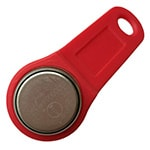 DS1971-F5 iButton with Red Fob Assembled