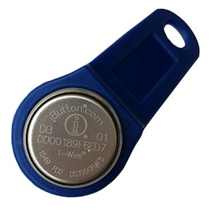 DS1990R#F5 iButton with Blue Plastic Handle for GPS Trackers