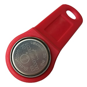 DS1990R-F5 iButton with Red Plastic Fob for Driver Identification