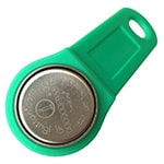 DS1991L-F5 MultiKey iButton with Green Plastic Handle