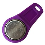 DS1991L-F5 MultiKey iButton with Purple Plastic Holder