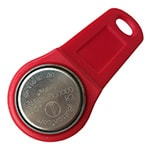 DS1991L-F5 MultiKey iButton with Red Plastic Fob