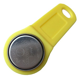 DS1991L-F5 Password iButton with Yellow Holder