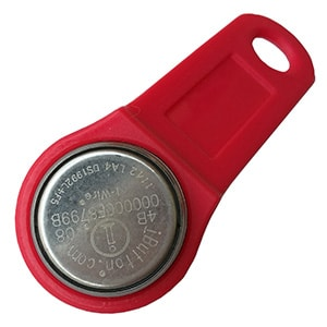 DS1992L-F5 Memory iButton with Red Fob Assembled