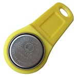 DS1992L-F5 Memory iButton with Yellow Fob Assembled