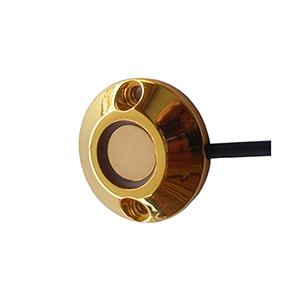 iButton Reader with Red or Blue Bicolor LED in Golden Color