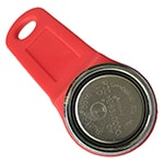 Magnetic iButton Key with Red Plastic Holder