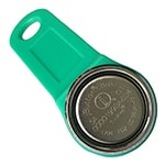 Magnetic iButton with Green Key Fob