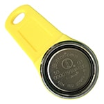 Magnetic iButton with Yellow Plastic Keyfob