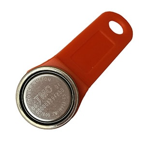 Magnetic TM1990A-F5 iButton with Red Plastic Fob