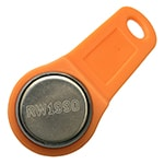RW1990 Key for Clone iButtons' 64-bit Serial Number with Orange Fob
