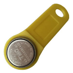 TM1990A F5 iButton Key Tag with Yellow Fob